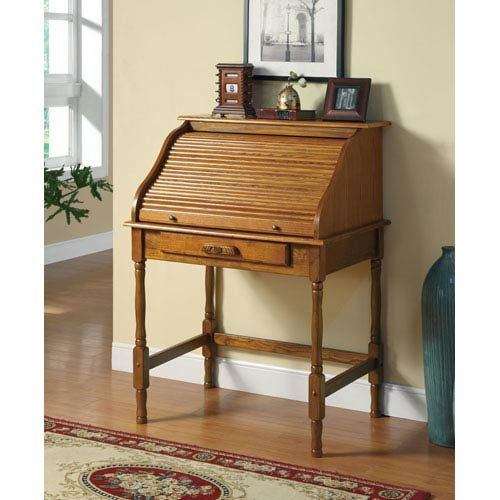 Palmetto Small Roll Top Secretary Desk Coaster Furniture Roll Top Desks $431 44.5 Inches High 24 Inches Wide 32.5 Inches Deep