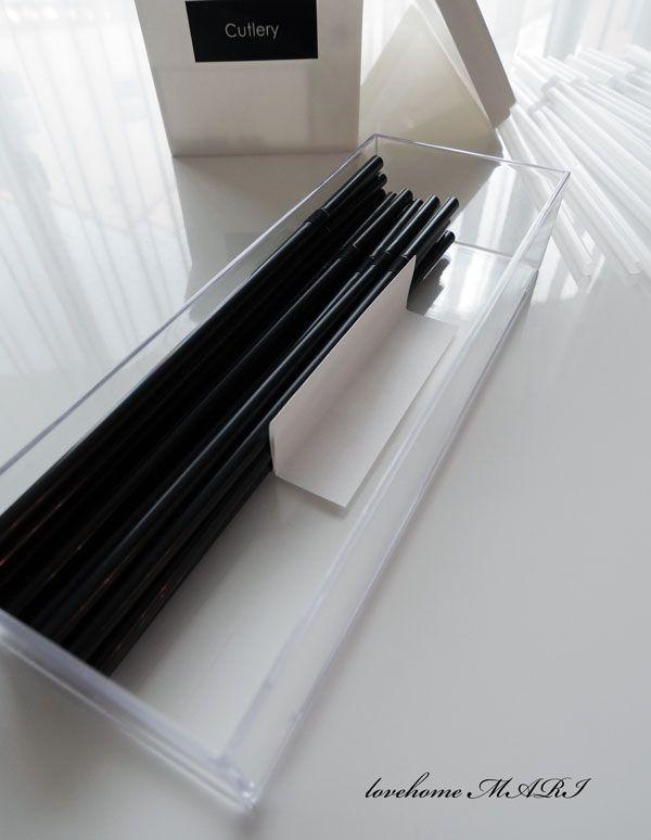 ◆【セリアのクリアケースを積む収納】100円シンプルなお箸とストローの整理 : love HOME 収納&インテリア