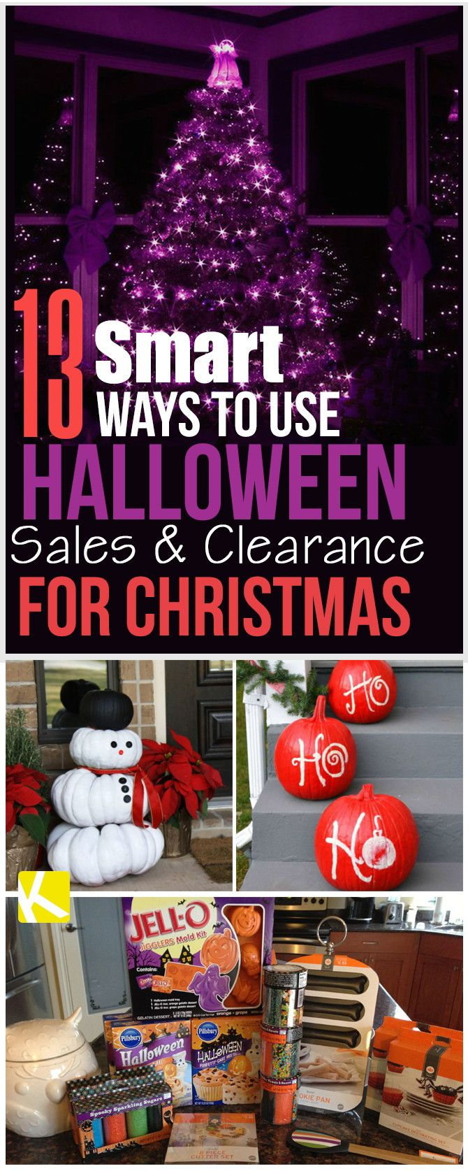 For many, the Halloween clearance shelves are a place to stock up for the next year, but we have 13 tips on how you can actually take advantage of all the Halloween sales and clearance items for that huge holiday coming up—Christmas!