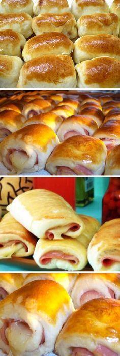 Receta Pan Casero: ENROLLADITOS de Jamón y Queso. #enrolladito #jamón #queso #enrolladitos #pancasero #pan #panfrances #pantone #panes #pantone #pan #receta #recipe #casero #torta #tartas #pastel #nestlecocina #bizcocho #bizcochuelo #tasty #cocina #chocolate Disolver la levadura en el vaso de leche caliente Vaya juntando los demás ingredientes hasta fo...