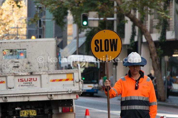 Taken on George Street Sydney, Australia where footpath works were being done. 18 May 2014
