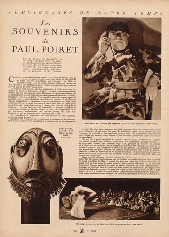 Paul Poiret (Testimony) 1930 Portrait, Doll by Marie Vassilieff