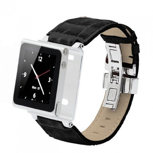 Timepiece Collection Leather Stainless Leather Watch Strap for iPod Nano 6th
