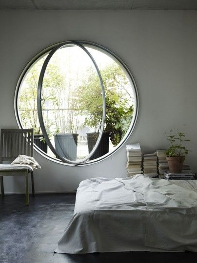 A round window, huh? I think this window would stand out in any room! #bedroom #window