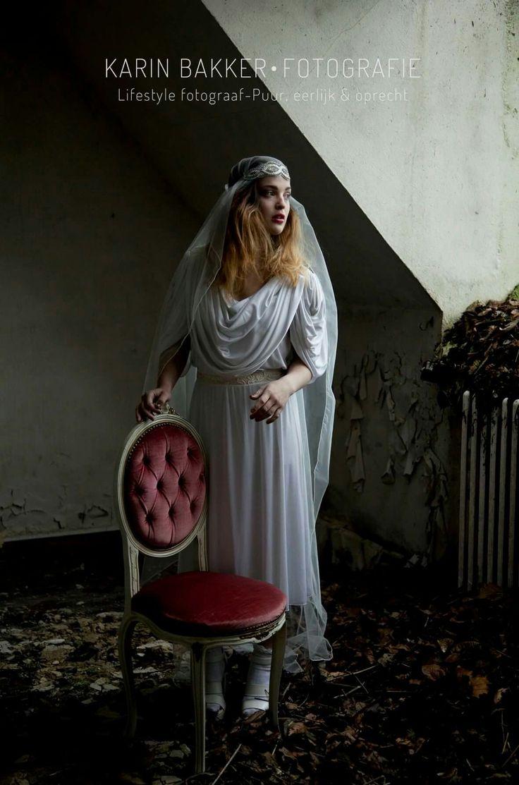 Urbex/Model photoshoot by KarinBakkerFotografie #urbex #model #photography #belgium #vintage