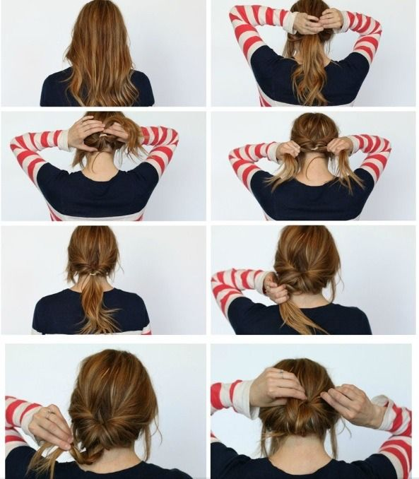 2 Minutes Braided Bun!! #Beauty #Trusper #Tip
