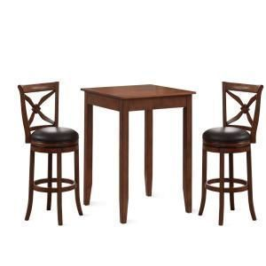 American Woodcrafters Provence 3 Piece Brown Cherry 42 In H Pub Set P2 201 B201 3pc The Home Depot