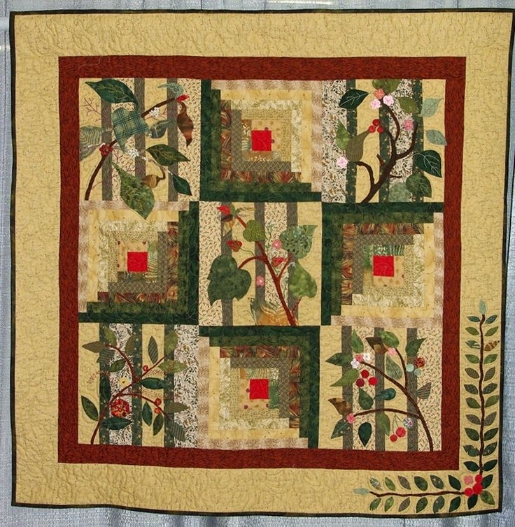 1000+ Images About Quilts - Log Cabin On Pinterest