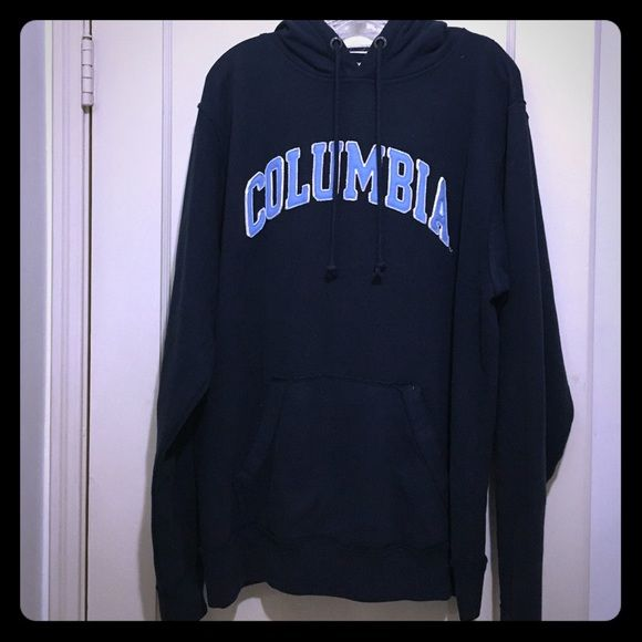 Like new Columbia university hoodie Navy blue Columbia university hoodie. Has fleece in inside. Like new condition. Worn once. Has pocket in front. Jackets & Coats