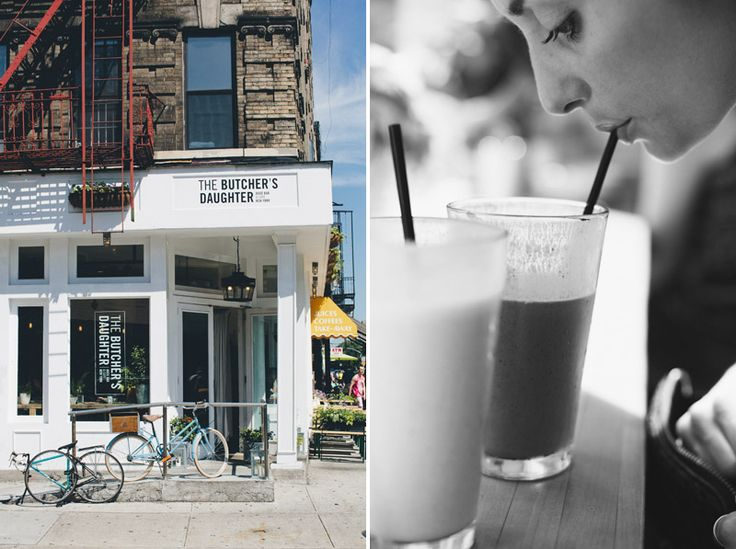 Places to go in NYC -- The Butcher's Daughter, Bruvette, Williamsburg Flea Market, People's Pops, Union Square Greenmarket