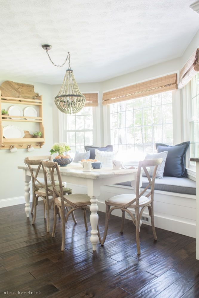 Farmhouse Breakfast Nook Reveal | Create a cozy gathering space in your home.