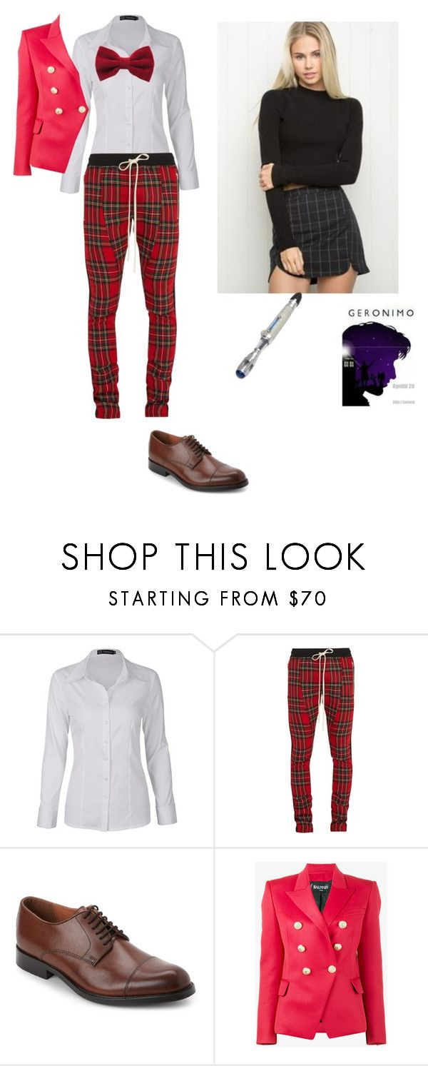 """Jonnie Smith - 16th Reincarnation"" by queen-p-bxtch ❤ liked on Polyvore featuring Fear of God, Joseph Abboud and Balmain"