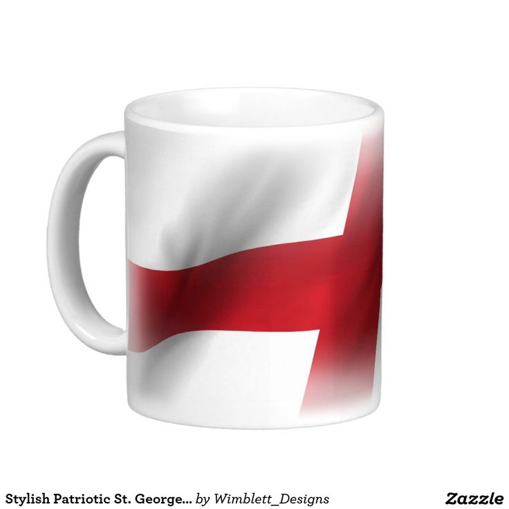 Stylish Patriotic St. George Flag Basic White Mug