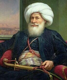 محمد علي باشا مؤسس مصر الحديثة ورأس الأسرة العلوية التي حكمت مصر (١٨٠٥-١٩٥٢) وحة للفنان الفرنسي لويس شارلي عام 1873م