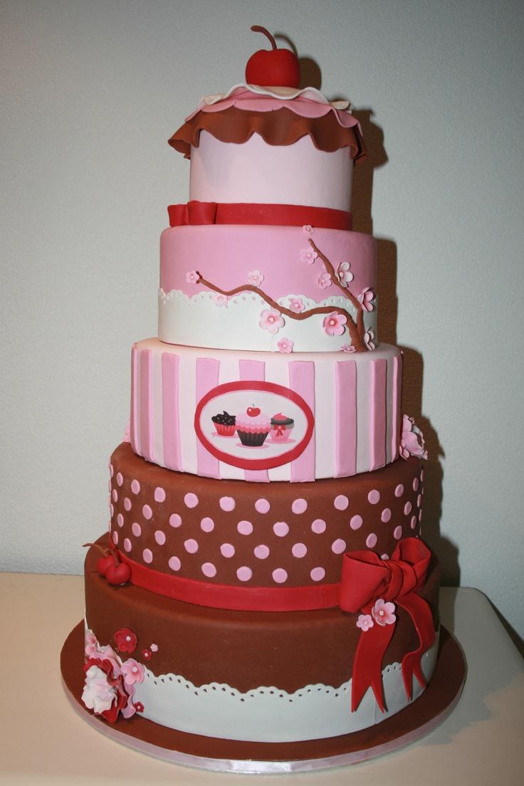 Cake inspired on my logo (dummy cake)