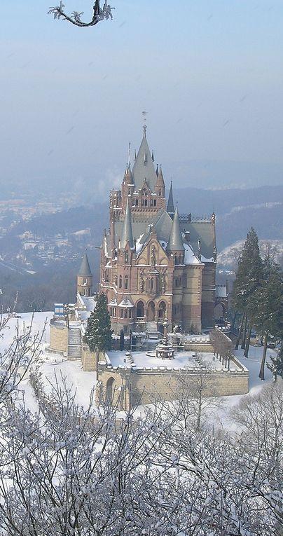 Castle Drachenburg in winter ~ Bonn, Germany