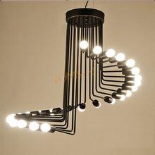 Mordern Retro Nordic luz colgante de Edison bombilla luces fixtures lustre industriel Loft hierro antiguo DIY E27 araña lámpara de techo(China (Mainland))