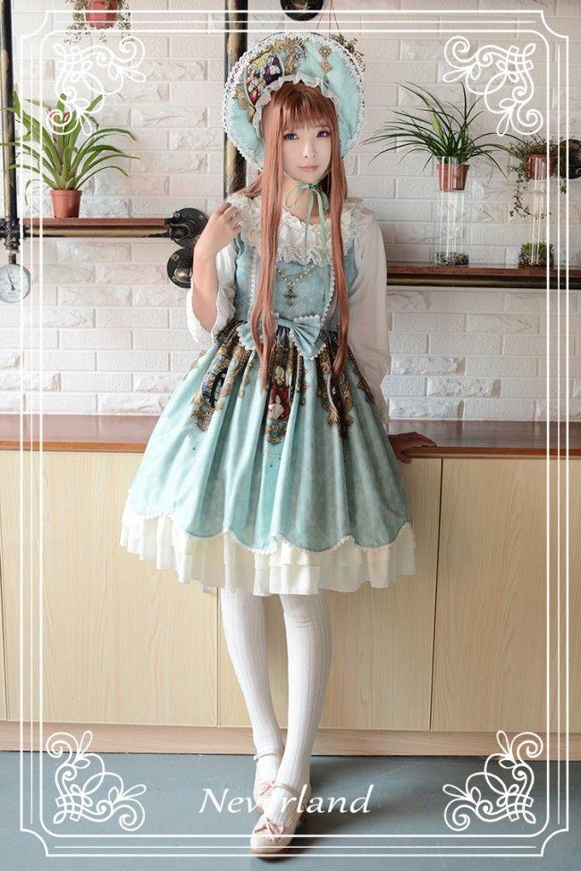 Neverland Lolita ~Holy Cross~ Cross Chain Lolita JSK - My Lolita Dress