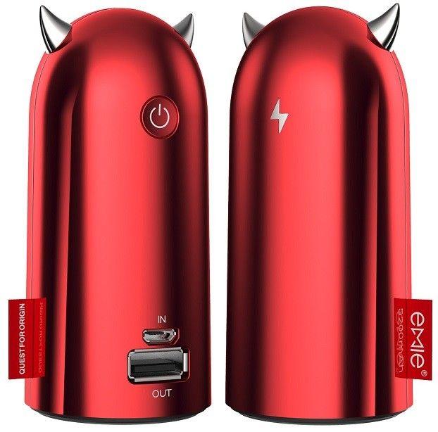 Un cadou perfect - încărcătorul mobil de urgență Emie Power Bank Devil Volt 5200 mAh la un preț de senzație - doar 86 lei! Designul este unic - cele două leduri din coarnele drăcușorului se aprind în timpul încărcării. Corpul este mic, însă oferă o încărcare rapidă a dispozitivelor! În plus funcțiile auto-sleep și wake-up asigură economisirea și protejarea bateriei! Nu ratați oferta!
