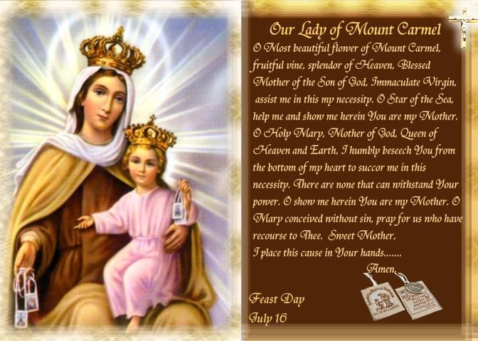 Feast Of Our Lady Of Mount Carmel Quotes