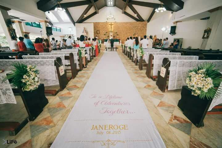 Aisle Runner #janeroge #jaro July 8, 2015 Boracay Island, Malay, Aklan, Philippines #dreamwedding #churchwedding #beachwedding #toalifetimeofadventurestogether