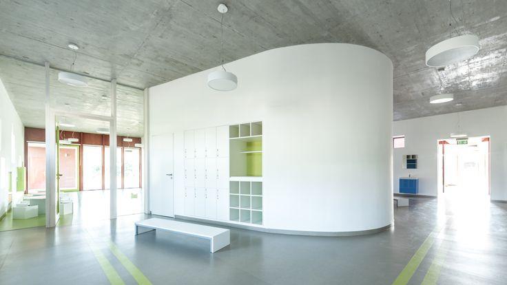 Daycare in Nagykovácsi by Földes Architects / www.foldesarchitects.hu #daycare #interior #brick #hungary #architecture