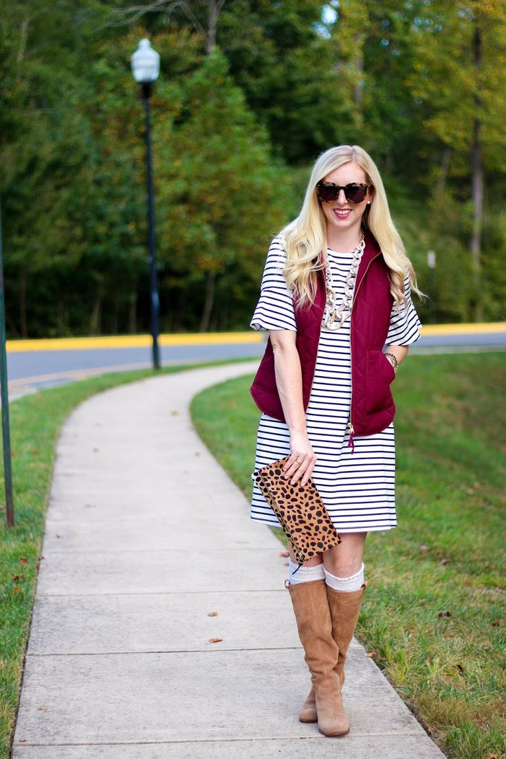 Hop on the bell sleeve trend with this striped shift dress. White and black striped shift style dress with pockets and above the elbow flared bell sleeves. Made with our Ponte knit material, which holds its shape for an easy and sophisticated day-to-night look. #stripes #fallfashion #workwear | All For Color | @kelsslayt