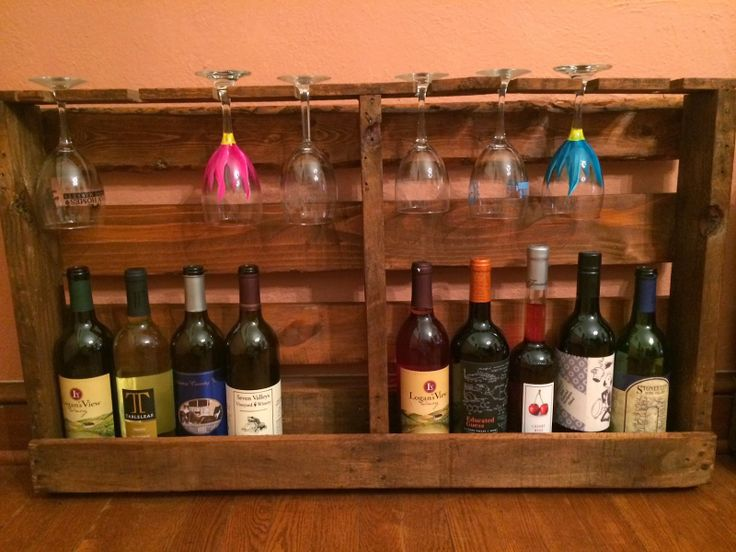 Diy Pallet Wine Rack And Beer Bottle Rack Diy Crafts