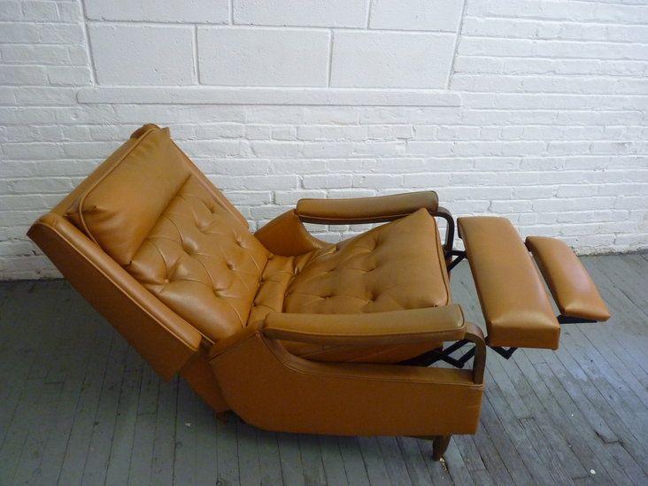 Mid Century Modern Rocker Recliner Lounge Chair