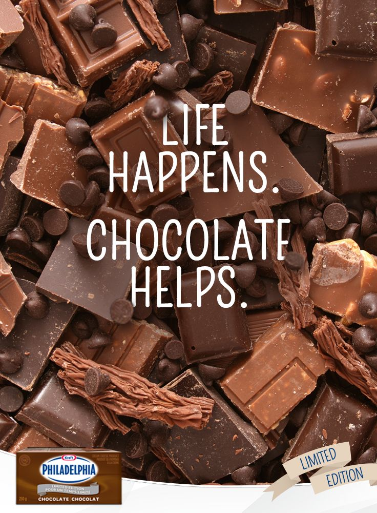Life happens. Chocolate helps. #Quote | Chocolate