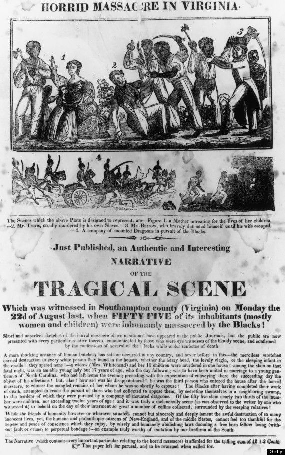 This Day In History:On November 11th, 1831 Nat Turner leader of the slave revolt was hanged after leading a violent slave rebellion in Virginia. He led the uprising on August 21st 1831, and successfully hid in the woods for six weeks. Turner believed he was chosen by God to relieve slaves from bondage. With a group of about 40 to 50 slaves, it's estimated around 55 white men women and children were killed during Turner's rebellion. Click to read more