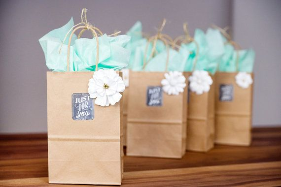 40 Small Brown Kraft Paper Bags with Handles by FancyThatLoved