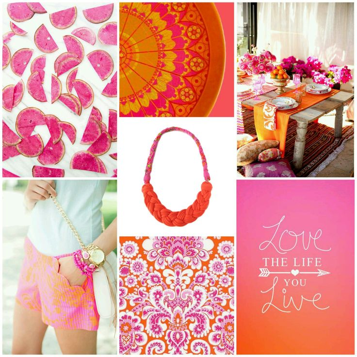 Love the life~You livehttp://etsy.me/1tkcF3r #recycleyourtshirt #handmade #fabric #necklace #ecofriendly #inspiredbycolor #moodboard