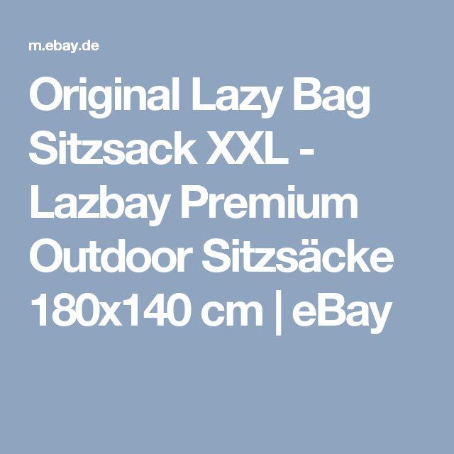 Details Zu Original Lazy Bag Sitzsack XXL   Lazbay Premium Outdoor Sitzsäcke  180x140 Cm