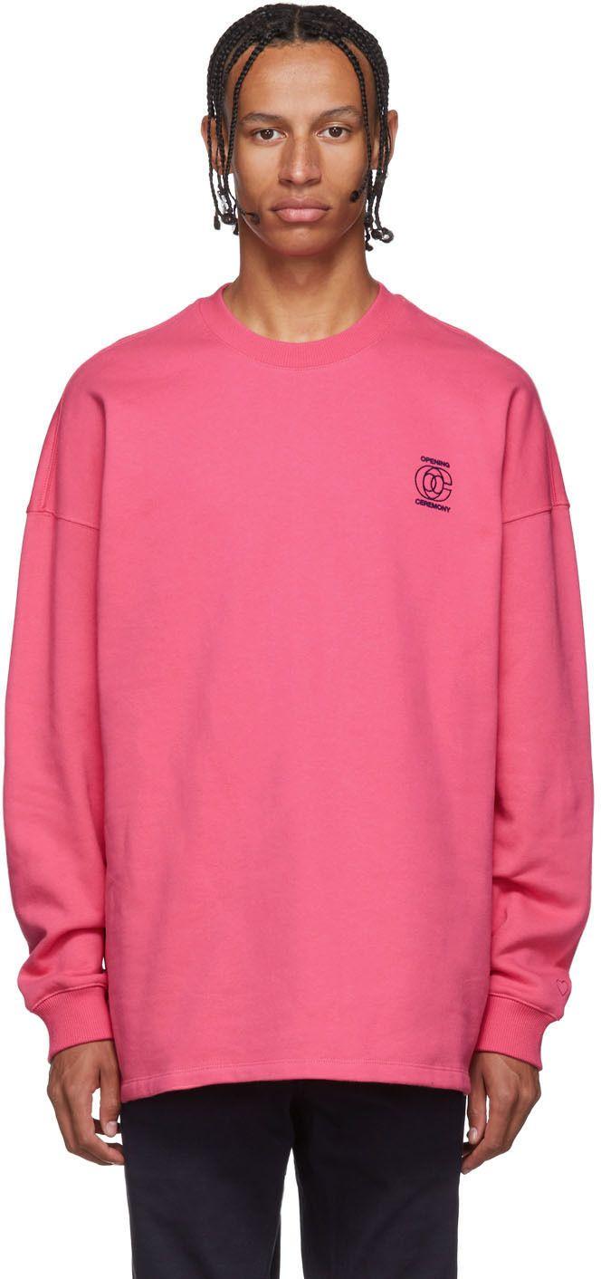 Pink Unisex Cozy Sweatshirt Cozy Sweatshirts Long Sleeve Tshirt Men Sweatshirts [ 1412 x 664 Pixel ]