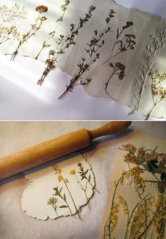 Blumen auf Papier