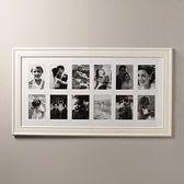 black wooden poster multi aperture frame