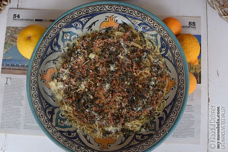 Poetry of material things-Spaghetti with tuna, capers and kritamo | My Messinia