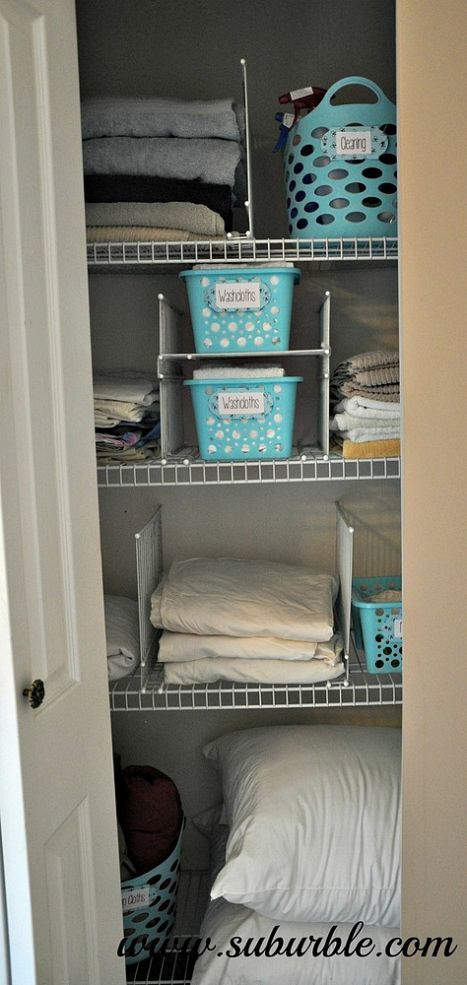 DIY Wire Shelf Dividers (great for the linen closet)! :: Hometalk