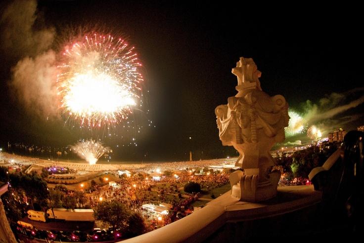 i fuochi visti dal Grand Hotel fireworks from Grand Hotel