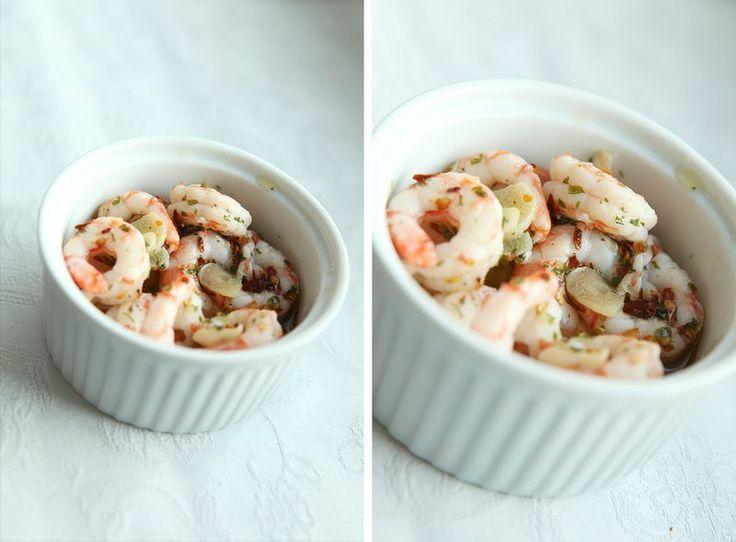 made by mary - Tapas för 2: Vitlöks- & Chilifrästa Räkor - Tapas for 2: Garlic & Chili Fried Shrimps
