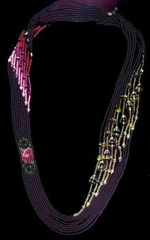 Rose Sweep Necklace : Beading Patterns and kits by Dragon!, The art of beading.