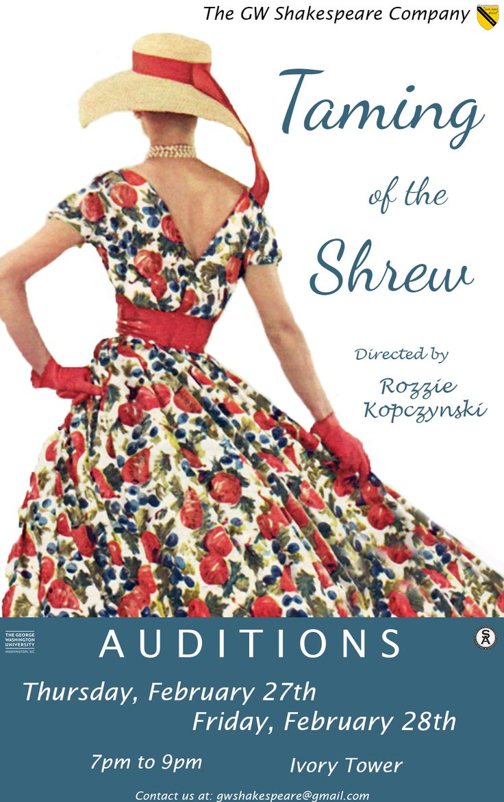 17 best images about the taming of the shrew acts 1 audition poster for the george washington shakespeare company s production of the taming of the shrew