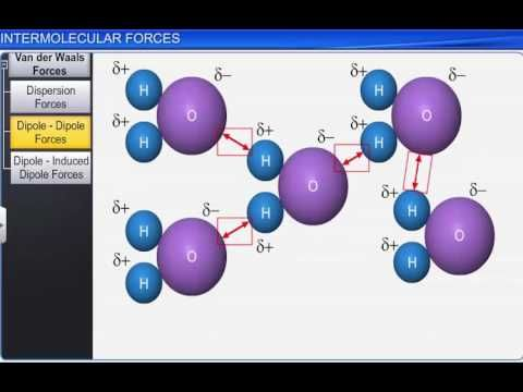 CBSE Class 11 Chemistry, State of Matter -1, Intermolecular Forces