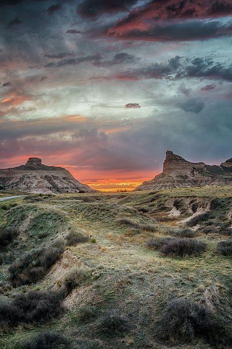 Scotts Bluff Sunset - Nebraska Fine Art Prints for Sale