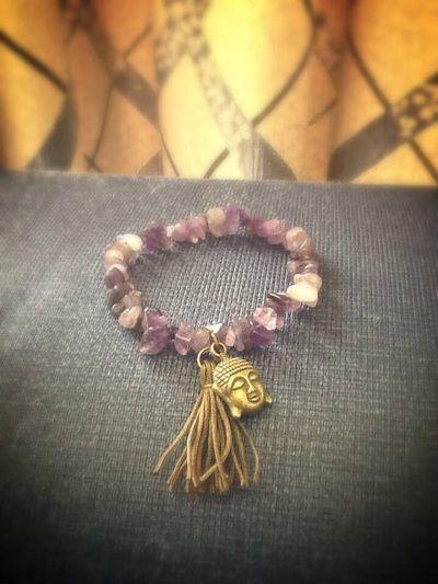 Amethyst. Buddha. Tassel. Bracelet. Handmade. Jewellery. Chakra. Www.releasingthebutterflywithin.weebly.com. Or facebook: unique handmade jewellery by RTBW