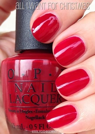 All I Want For Christmas is a cool bright red crème - Mariah Carey Christmas 2013