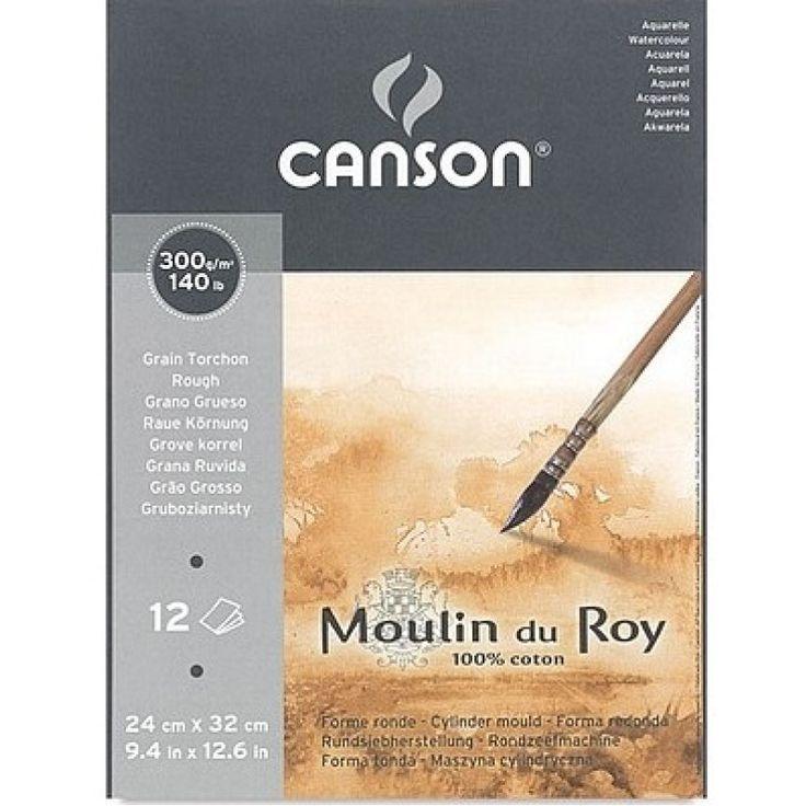 Bloco Canson Moulin Du Roy Textura Rugosa 300grs 30x40 C/12 Folhas