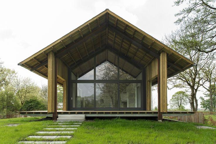 Mooi idee van een splitlevel woning die voor woonplezier en gemak niets onderdoet voor een regulier huis.