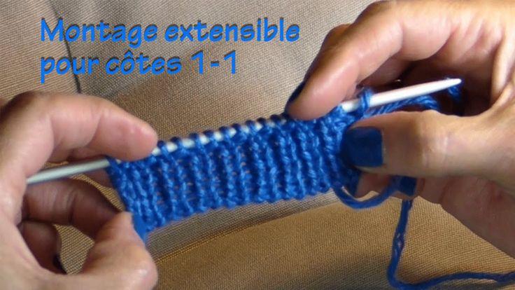 Montage extensible pour c tes 1 1 tricot pinterest - Changer de pelote tricot ...